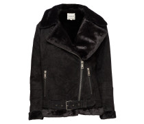 Slfvictoria Spilt Leather Jacket W