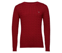 Cotton Cable Crew Strickpullover Rundhals Rot GANT