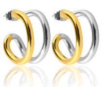 Two Tone Hoops S