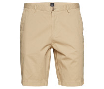 Slice-Short Shorts Chinos Shorts Beige