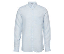 Daniel-Linen Melange Hemd Business Blau J. LINDEBERG