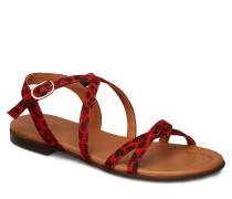 Sandals Flache Sandalen Rot