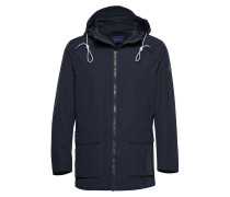 O1. The Hooded Wave Jacket Parka Jacke Blau