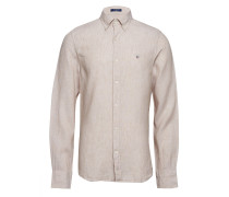 The Leinenhemd Slim Bd Hemd Business Beige GANT