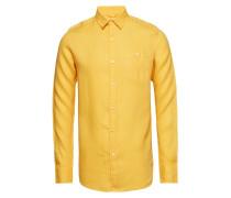Larch Ls Shirt Hemd Business Gelb KNOWLEDGE COTTON APPAREL