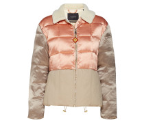 Chic Bomberjacke In Satin & Canvas Quilted Mix, With A Ted