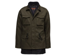 Fieljacket With Fake Inner In Wool Blenquality