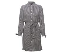 Marie Hemdkleid Ls Kleid Knielang Grau