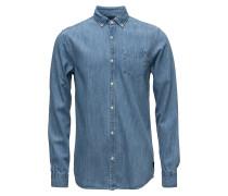 Ams Blauw Denimhemd Regular Fit