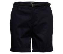 Longer Length Mercerised Chino Shorts, Sold With A Belt Bermudashorts Schwarz SCOTCH & SODA