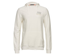 Clean Hoodie In Twill-Structured Felpa Quality