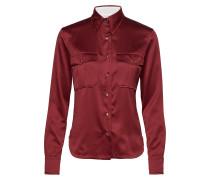 Satin Police Pkt Shi Bluse Langärmlig Rot CALVIN KLEIN
