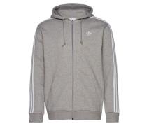 3-Stripes Fz Sweatshirts & Hoodies Zip Throughs Grau