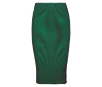 Knitted Tube Skirt With Sporty Side Panel