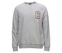 Kamus C Badge Sweatshirt Pullover Grau
