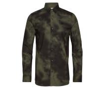 Woven Hemd Hemd Casual Grün LACOSTE