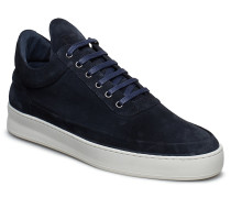 Low Top Plain Cape Suede Niedrige Sneaker Blau FILLING PIECES
