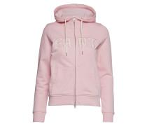 O1. Logo Full Zip Hoodie Sweatshirts & Hoodies Zip Throughs Pink
