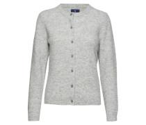 O1. Woolen Hairy Cardigan Cardigan Strickpullover Grau GANT