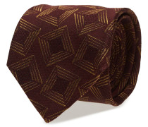 Burgundy Silk & Wool Tie