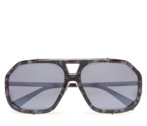 Not Defined Wayfarer Sonnenbrille Grau