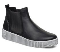 Ankle Boots Stiefelette Ohne Absatz Schwarz