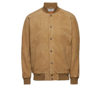 Suede Varsity Jacket Harvest G