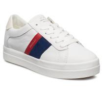 Aurora Low Schnürschuhe Niedrige Sneaker Weiß GANT