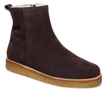 Boots - Flat - With Laces Stiefelette Ohne Absatz Braun ANGULUS