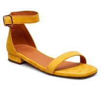 Sandals 8715 Flache Sandalen Gelb