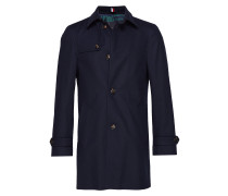 Cotton Texture Utili Wollmantel Mantel Blau TOMMY HILFIGER TAILORED