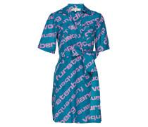 Clarem Mini Dress Kurzes Kleid Blau DIANE VON FURSTENBERG
