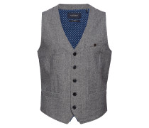 Classic Gilet In Wool Blend Quality With Neps