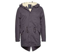 Classic Hooded Parka With Teddy Lining