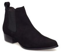 Boots Stiefelette Ohne Absatz Schwarz