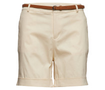 Longer Length Mercerised Chino Shorts, Sold With A Belt Bermudashorts Beige SCOTCH & SODA