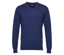 O2. Cotton Cashmere V-Neck Strickpullover V-Ausschnitt Blau GANT