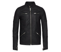Premium Leather Racer Jacket
