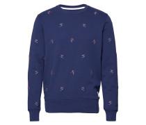 O1. Aoe Crew Neck Sweat Langärmliger Pullover Blau