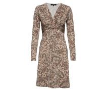 Dress Kleid Knielang Beige