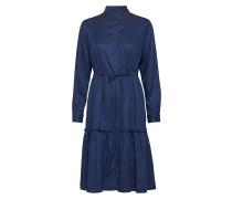 Floreta Drape Tiered Hemdkleid Kleid Knielang Blau FRENCH CONNECTION