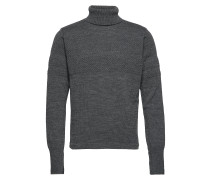 100% Wool Klemens Knitwear Turtlenecks Grau