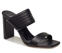 Fleur Mule 90-Pl Sandale Mit Absatz Schwarz BOSS BUSINESS WEAR