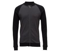 Cotton Rib Jacket Contrast