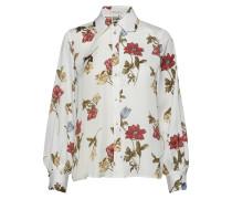 Isolde Shirt White Botanical Bluse Langärmlig Creme TWIST & TANGO