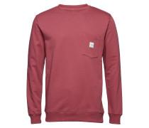 Square Pocket Sweatshirt Langärmliger Pullover Rot MAKIA