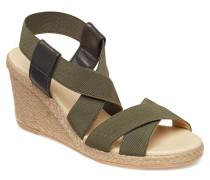 Espadrilla 8930 Sandale Mit Absatz Espadrilles Grün BILLI BI
