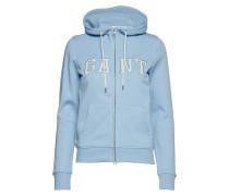 O1. Logo Full Zip Hoodie Sweatshirts & Hoodies Zip Throughs Blau