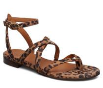 Sandals 8706 Flache Sandalen Braun