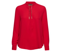 Taylor Weaved Chain Top Bluse Langärmlig Rot